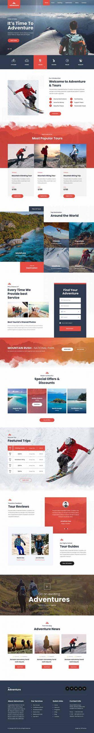 adventure tours WordPress theme