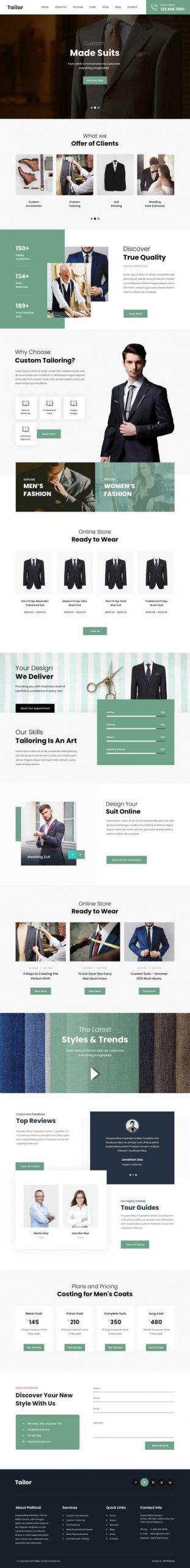 tailor WordPress theme