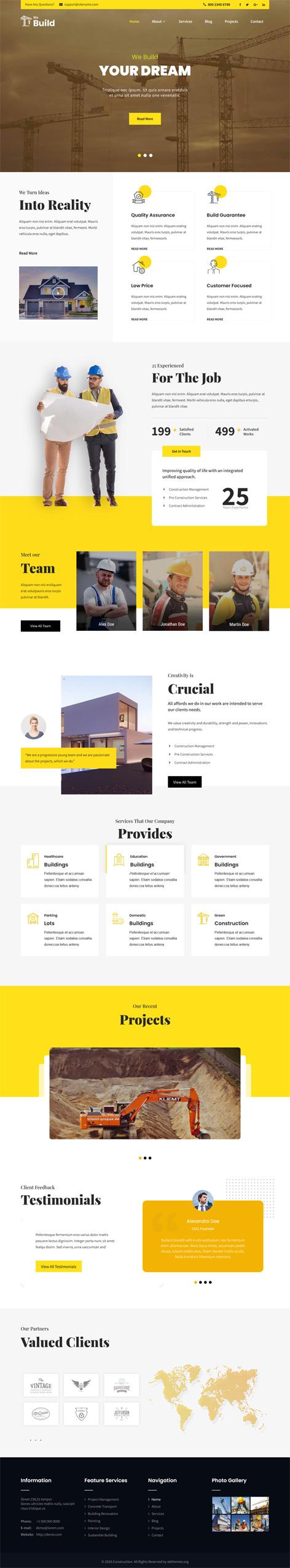 Home builder WordPress theme