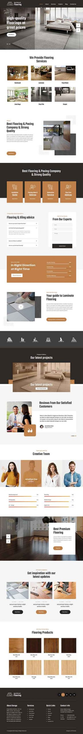 paving tiling WordPress theme
