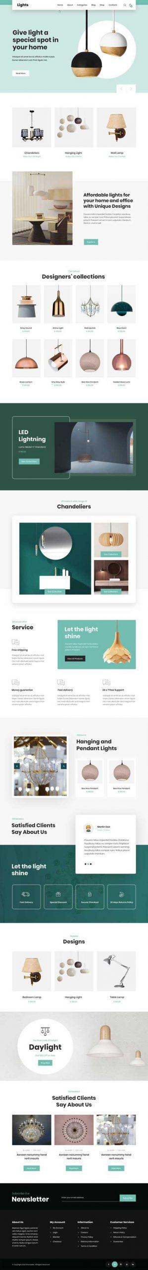 lighting service WordPress theme