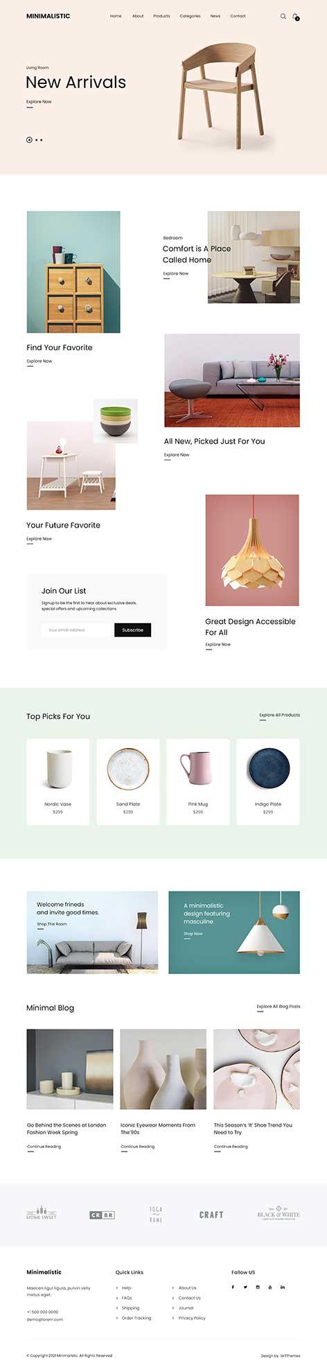 minimal eCommerce WordPress theme