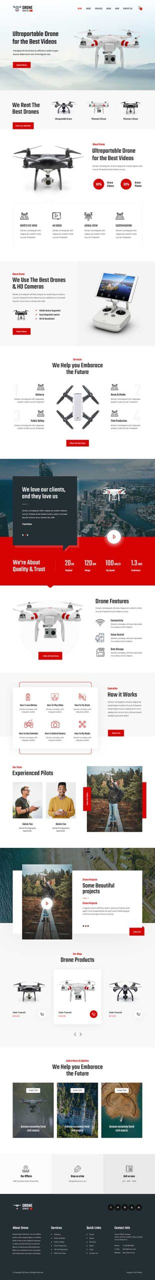 drone repair WordPress theme