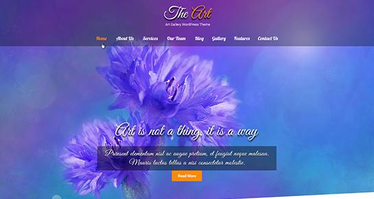 artist WordPress theme