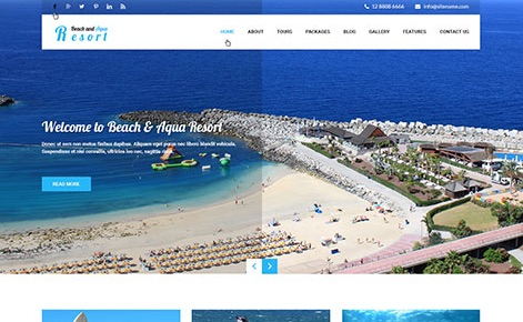 beach and aqua WordPress theme
