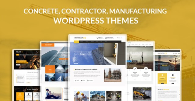 concrete contractor manufacturing WordPress themes