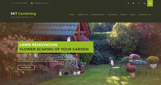 gardening landscaping WordPress theme