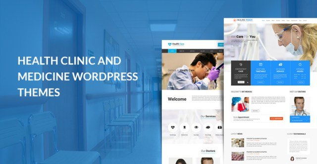 health clinic medicine WordPress theme