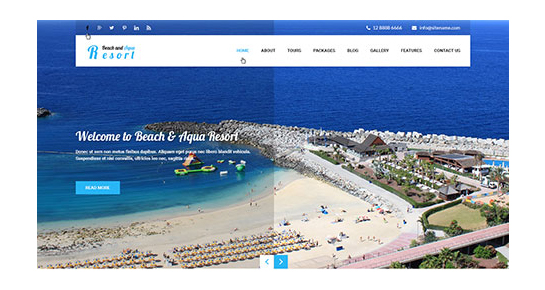 beach and aqua WordPress theme