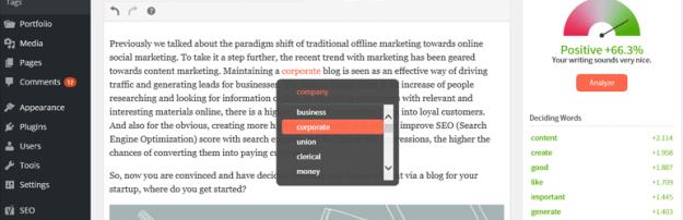 TwinWord Writer WordPress plugin