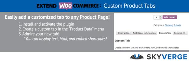 WooCommerce custom products tab