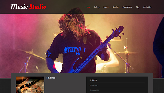 music studio WordPress theme
