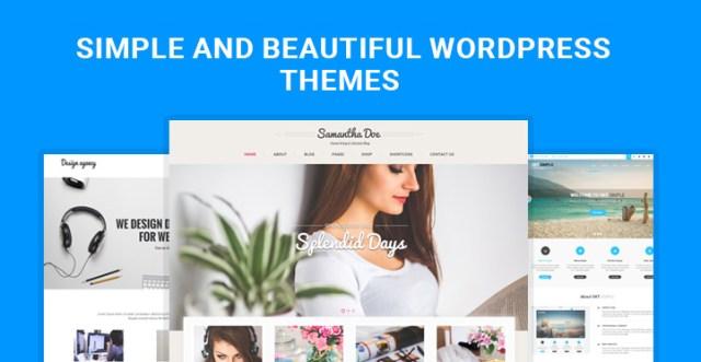 simple beautiful WordPress themes
