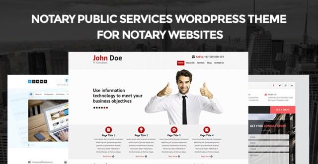 notary WordPress themes