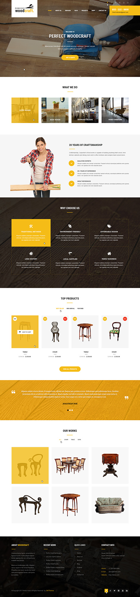 furniture store WordPress theme