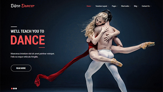 disco dancer WordPress theme