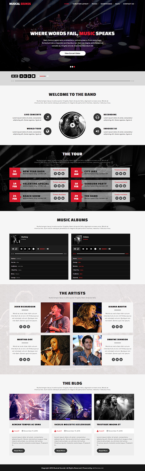 audio WordPress theme