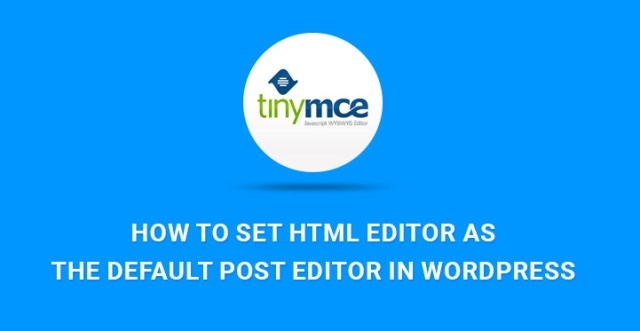 HTML Editor WordPress