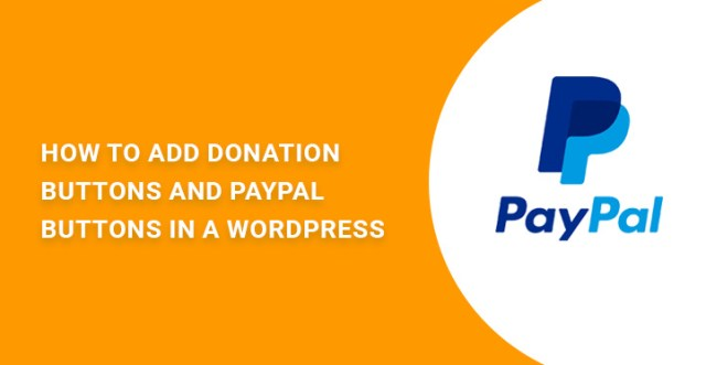 donation buttons PayPal WordPress