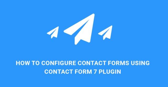 configure contact form 7 WordPress