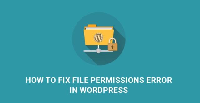 file permissions error WordPress