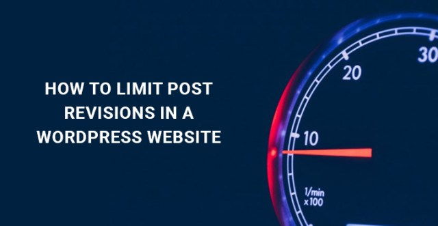 limit post revisions WordPress