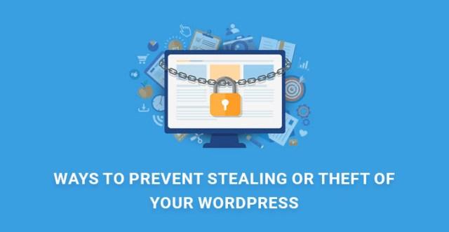 prevent stealing theft WordPress website images