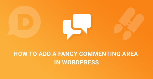 fancy commenting area in WordPress