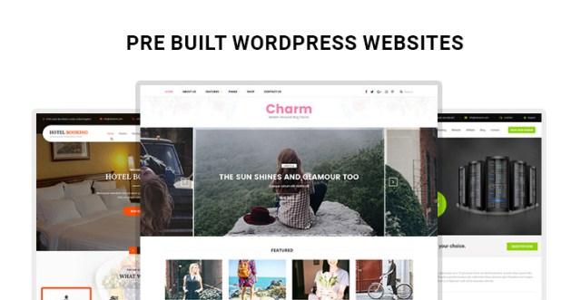 pre built WordPress websites
