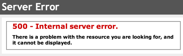 Internal Server Error