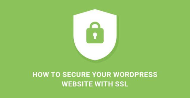 WordPress website with SSL
