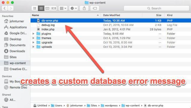custom database error message