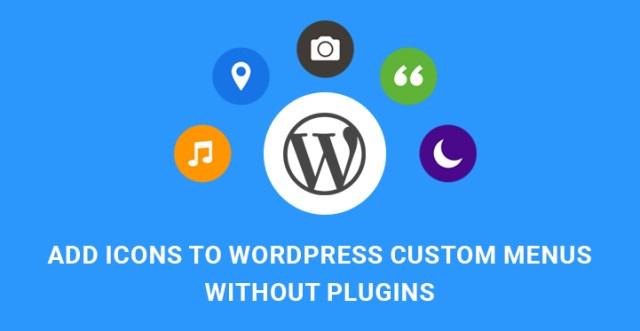 Icons WordPress Custom Menus