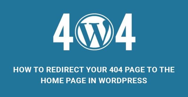 redirect 404 page WordPress
