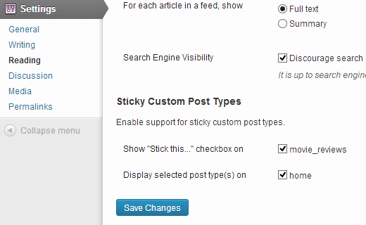 add sticky posts