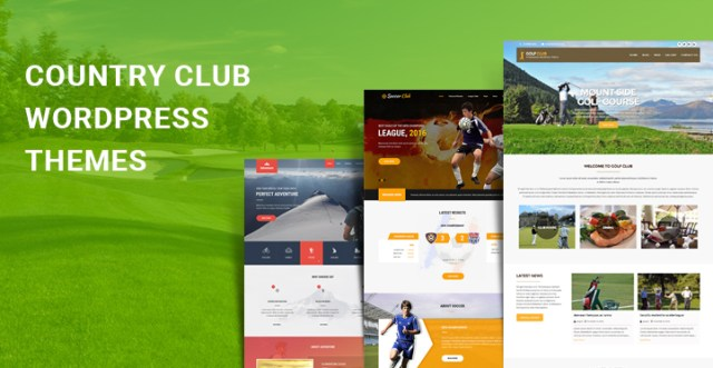 country club WordPress themes