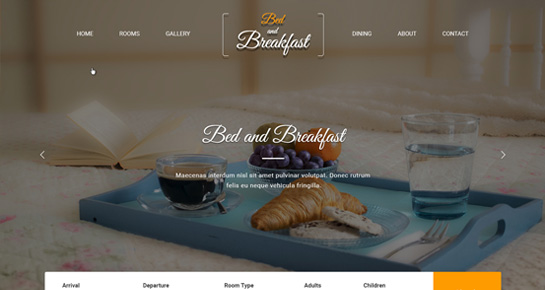 bed and breakfast WordPress theme