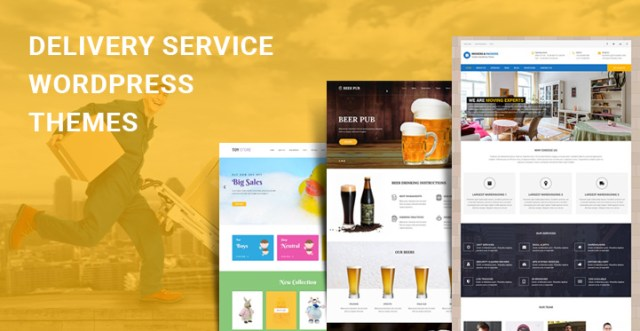Delivery Service WordPress Themes