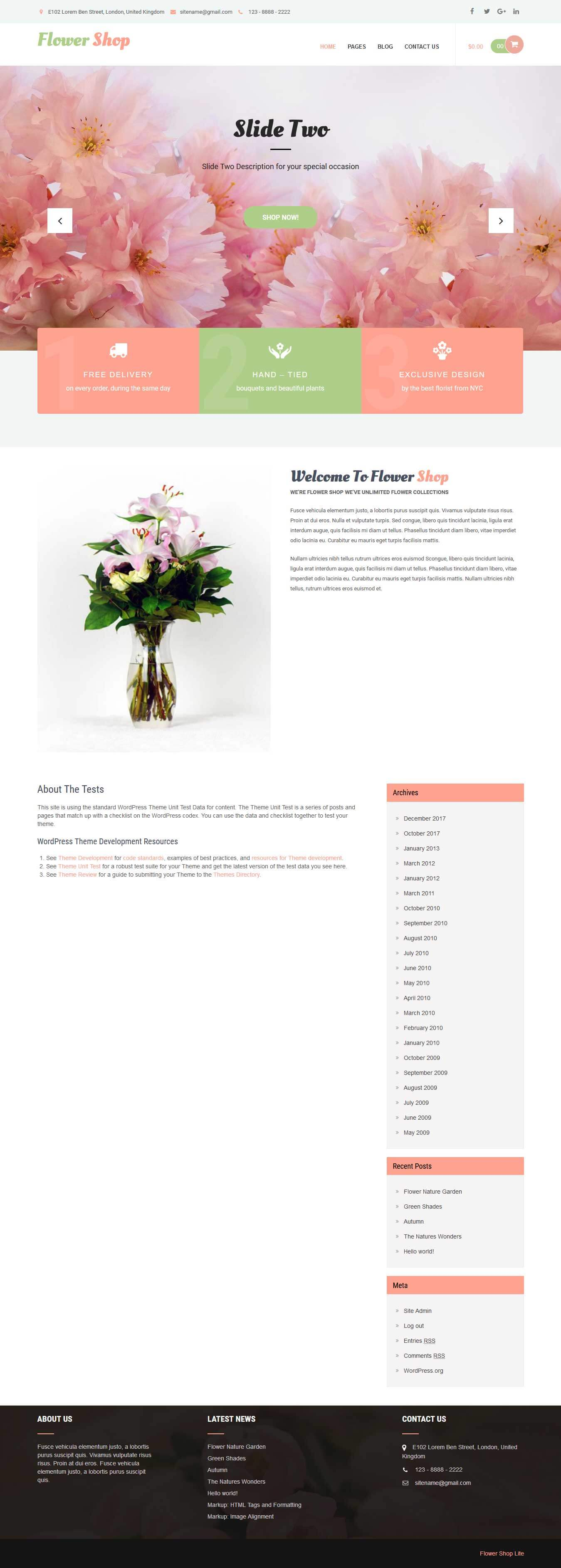 free shop WordPress theme