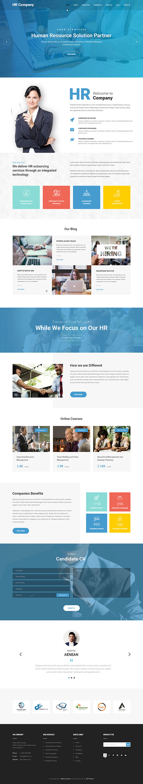 HR Management WordPress theme