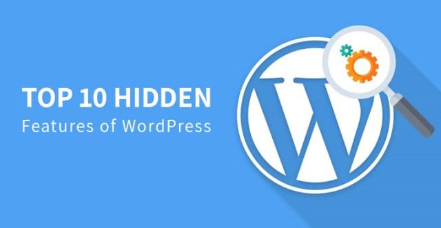 hidden features of WordPress