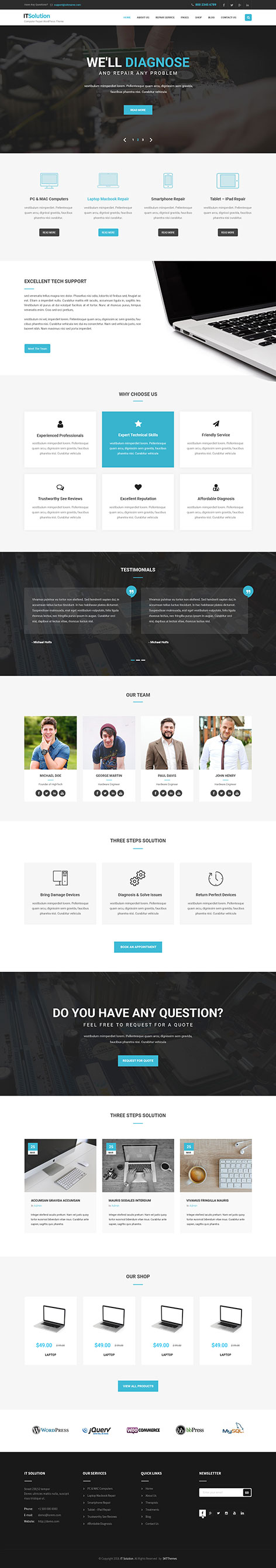 it solution WordPress theme