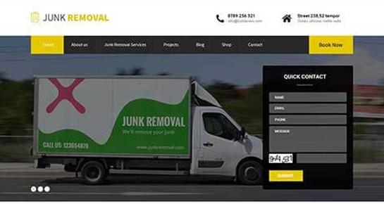 Junk removal WordPress theme