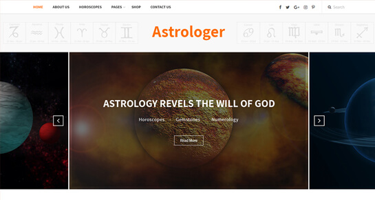 Astrology WordPress Theme