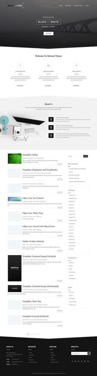 easiest free WordPress theme