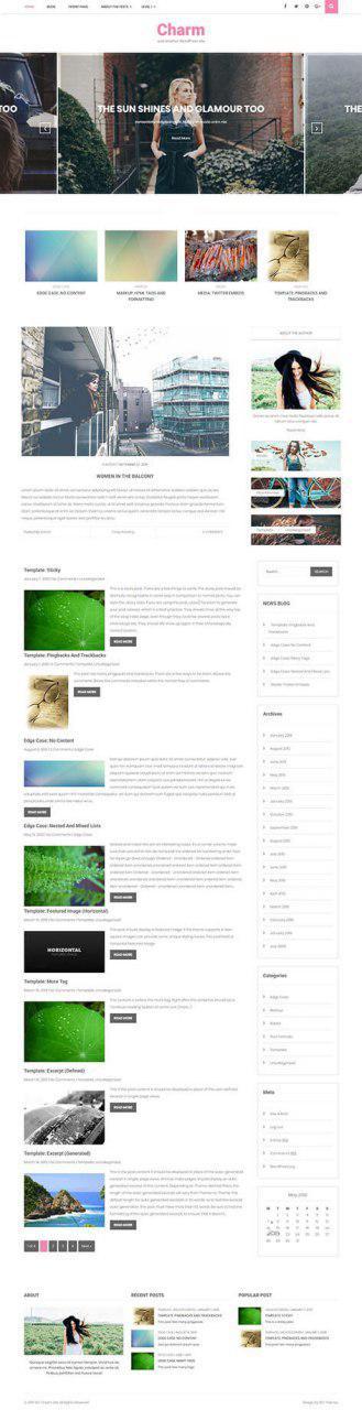 free blog template WordPress
