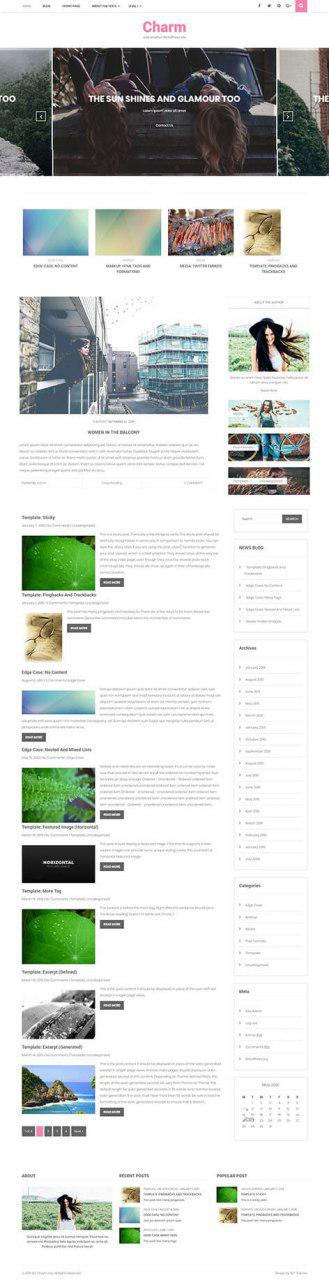 free blog template WordPress