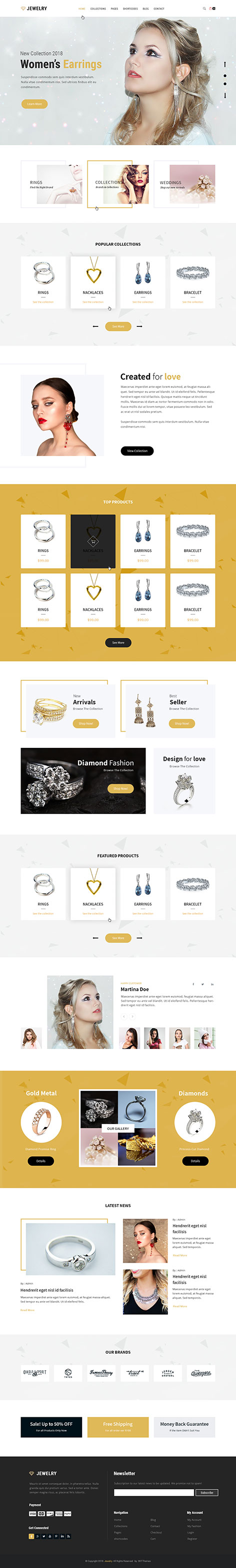 jewellery shop WordPress theme