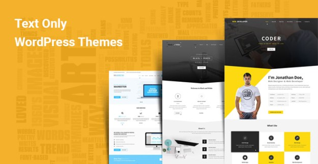 text only wordpress themes