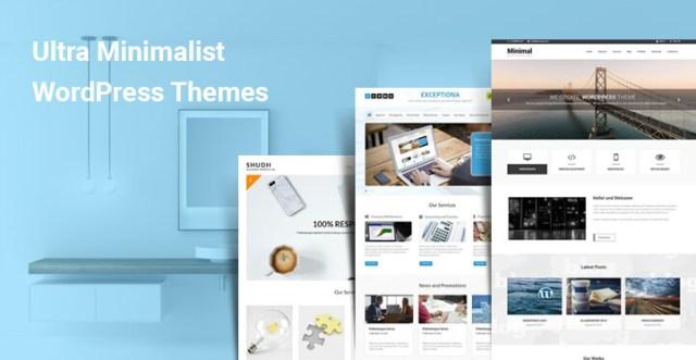 ultra minimalist wordpress themes